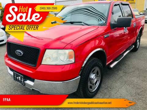 2004 Ford F-150 for sale at FPAA in Fredericksburg VA