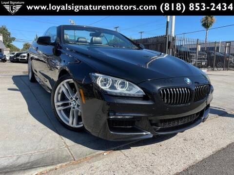 2015 BMW 6 Series for sale at Loyal Signature Motors Inc. in Van Nuys CA