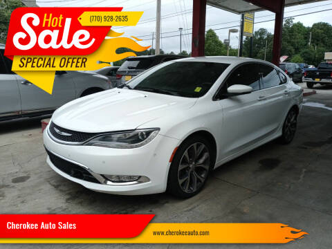2015 Chrysler 200 for sale at Cherokee Auto Sales in Acworth GA