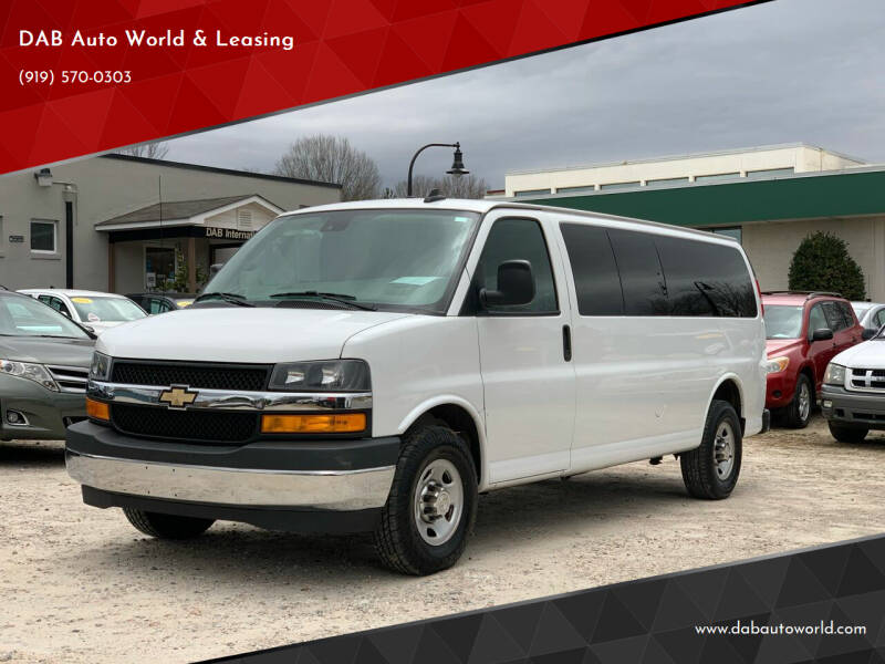 2019 Chevrolet Express Passenger for sale at DAB Auto World & Leasing in Wake Forest NC