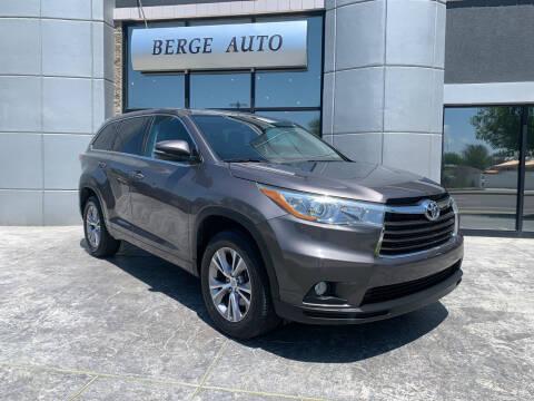 2015 Toyota Highlander for sale at Berge Auto in Orem UT