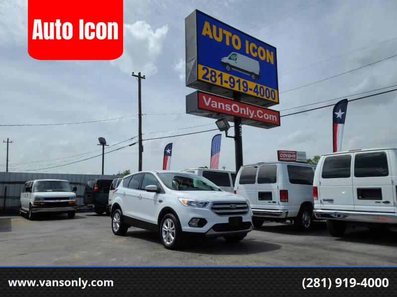2019 Ford Escape for sale at Auto Icon in Houston TX