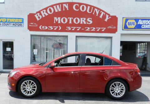 2012 Chevrolet Cruze for sale at Brown County Motors in Russellville OH