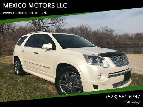 2012 GMC Acadia for sale at MEXICO MOTORS LLC in Mexico MO