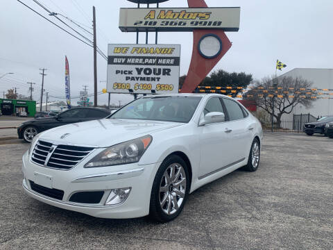 2011 Hyundai Equus for sale at A MOTORS SALES AND FINANCE - 6226 San Pedro Lot in San Antonio TX