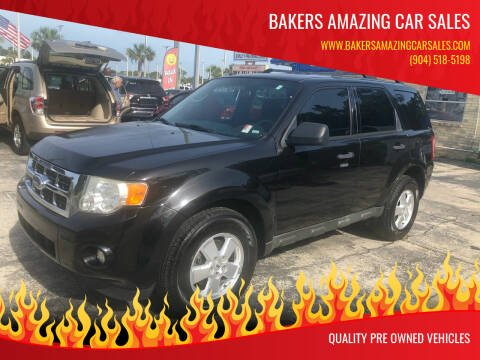 2011 Ford Escape for sale at Bakers Amazing Car Sales in Jacksonville FL