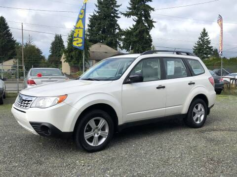 2012 Subaru Forester for sale at A & V AUTO SALES LLC in Marysville WA