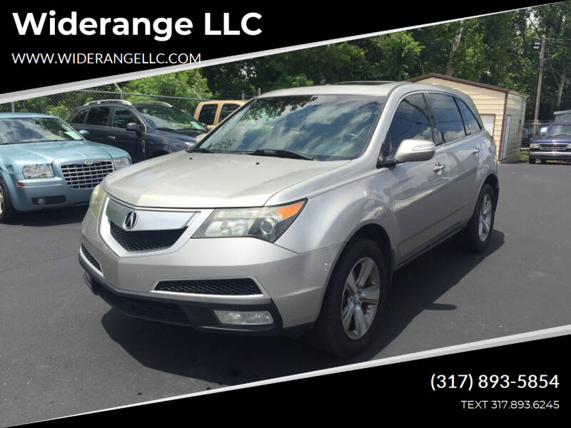2011 Acura MDX for sale at Widerange LLC in Greenwood IN
