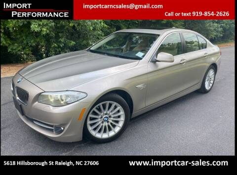 2011 BMW 5 Series for sale at Import Performance Sales in Raleigh NC