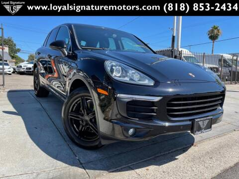 2016 Porsche Cayenne for sale at Loyal Signature Motors Inc. in Van Nuys CA