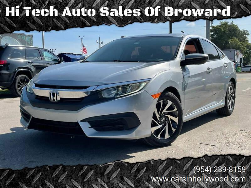 2016 Honda Civic for sale at Hi Tech Auto Sales Of Broward in Hollywood FL