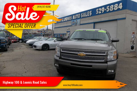 2012 Chevrolet Silverado 1500 for sale at Highway 100 & Loomis Road Sales in Franklin WI