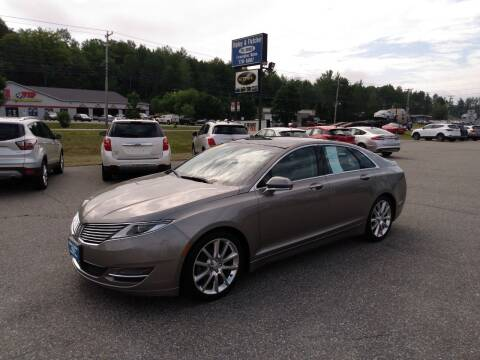 2015 Lincoln MKZ for sale at Ripley & Fletcher Pre-Owned Sales & Service in Farmington ME