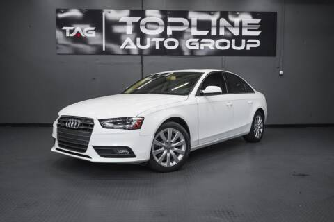 2013 Audi A4 for sale at TOPLINE AUTO GROUP in Kent WA