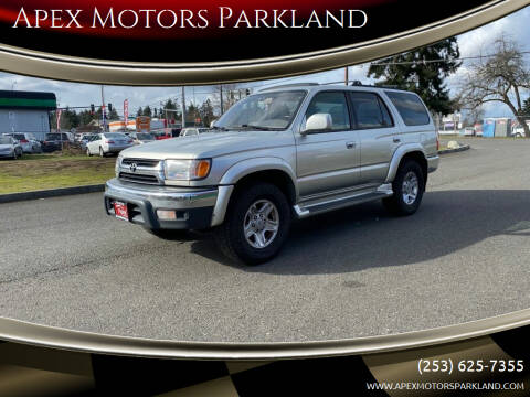 2002 Toyota 4Runner for sale at Apex Motors Parkland in Tacoma WA