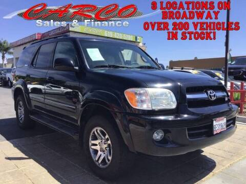 2005 Toyota Sequoia for sale at CARCO SALES & FINANCE in Chula Vista CA