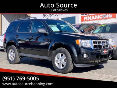 2011 Ford Escape for sale at Auto Source in Banning CA