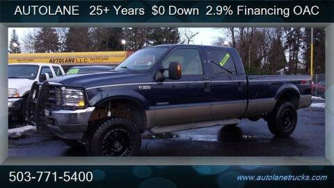 2004 Ford F-350 Super Duty for sale at Auto Lane in Portland OR