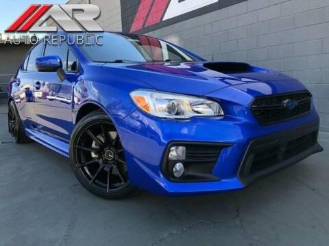 2018 Subaru WRX for sale at Auto Republic Fullerton in Fullerton CA