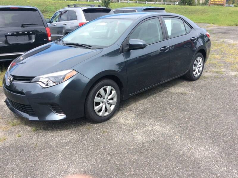 2015 Toyota Corolla for sale at Route 102 Auto Sales  and Service in Lee MA