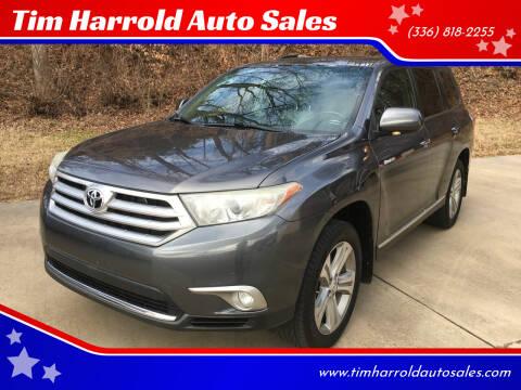 2012 Toyota Highlander for sale at Tim Harrold Auto Sales in Wilkesboro NC