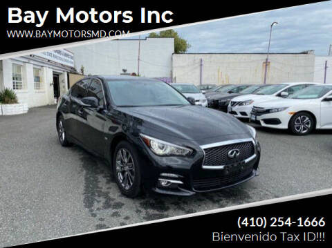 2017 Infiniti Q50 for sale at Bay Motors Inc in Baltimore MD
