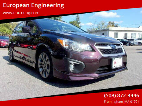 2013 Subaru Impreza for sale at European Engineering in Framingham MA