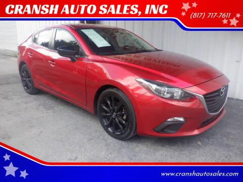 2014 Mazda MAZDA3 for sale at CRANSH AUTO SALES, INC in Arlington TX