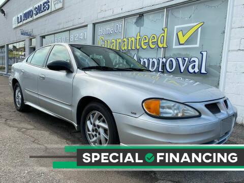 2003 Pontiac Grand Am for sale at LA Auto & RV Sales and Service in Lapeer MI