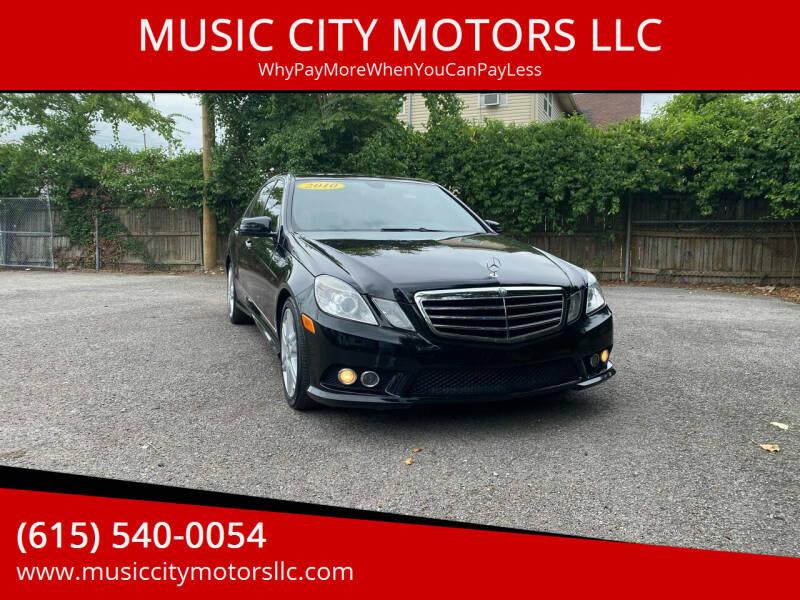 2010 Mercedes-Benz E-Class for sale at MUSIC CITY MOTORS LLC in Nashville TN