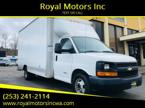 2013 Chevrolet Express Cutaway for sale at Royal Motors Inc in Kent WA