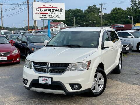 2012 Dodge Journey for sale at Supreme Auto Sales in Chesapeake VA
