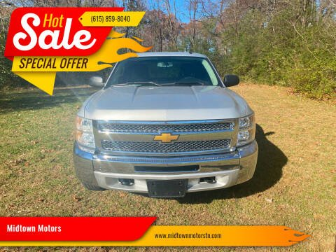 2012 Chevrolet Silverado 1500 for sale at Midtown Motors in Greenbrier TN