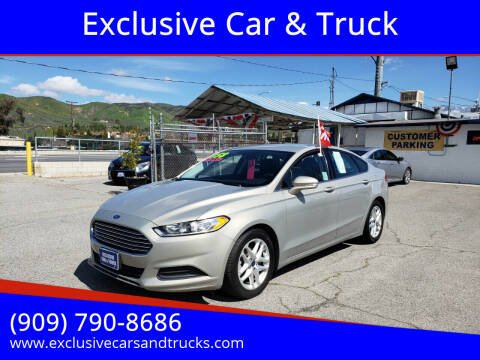 2015 Ford Fusion for sale at Exclusive Car & Truck in Yucaipa CA