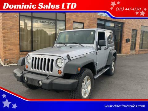 2013 Jeep Wrangler for sale at Dominic Sales LTD in Syracuse NY