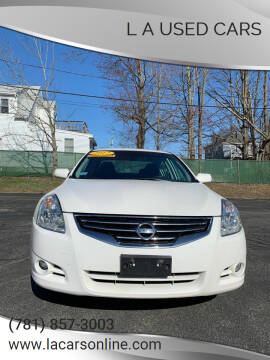 2012 Nissan Altima for sale at L A Used Cars in Abington MA