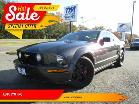 2007 Ford Mustang for sale at AUTOTYM INC in Fredericksburg VA