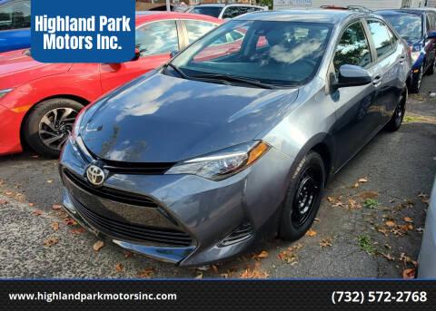 2018 Toyota Corolla for sale at Highland Park Motors Inc. in Highland Park NJ