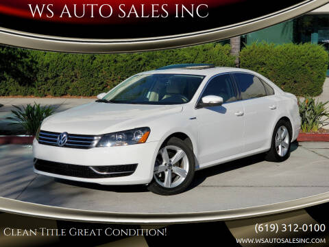 2012 Volkswagen Passat for sale at WS AUTO SALES INC in El Cajon CA