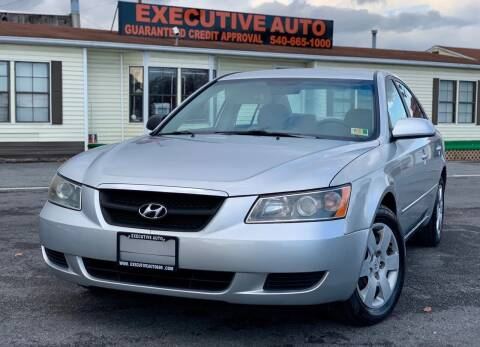 2007 Hyundai Sonata for sale at Executive Auto in Winchester VA