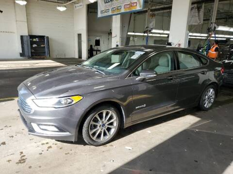 2017 Ford Fusion Hybrid for sale at Riverside Auto Sales & Service in Portland ME