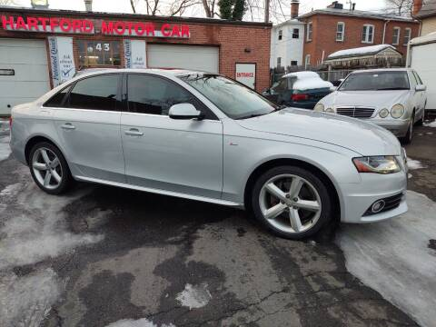 2012 Audi A4 for sale at HARTFORD MOTOR CAR in Hartford CT