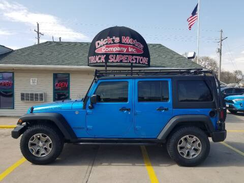 2016 Jeep Wrangler Unlimited for sale at DICK'S MOTOR CO INC in Grand Island NE
