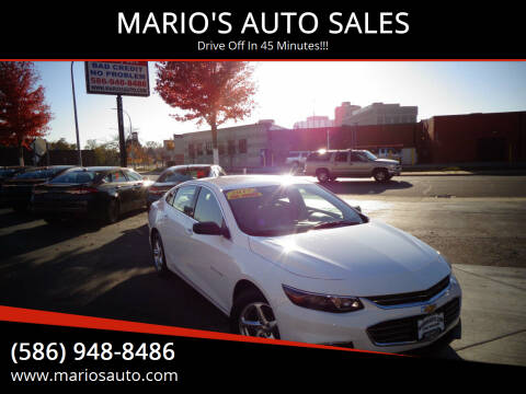 2017 Chevrolet Malibu for sale at MARIO'S AUTO SALES in Mount Clemens MI