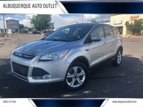 2016 Ford Escape for sale at ALBUQUERQUE AUTO OUTLET in Albuquerque NM