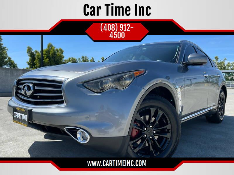 2014 Infiniti QX70 for sale at Car Time Inc in San Jose CA