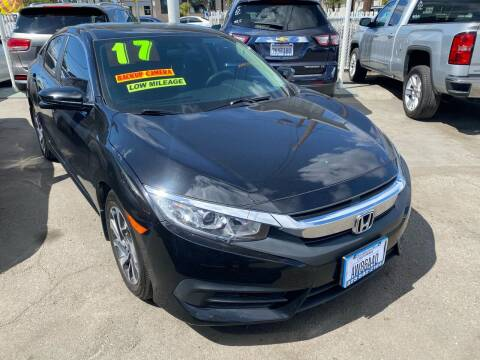 2017 Honda Civic for sale at CAR GENERATION CENTER, INC. in Los Angeles CA