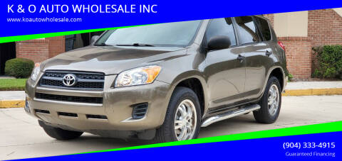 2010 Toyota RAV4 for sale at K & O AUTO WHOLESALE INC in Jacksonville FL