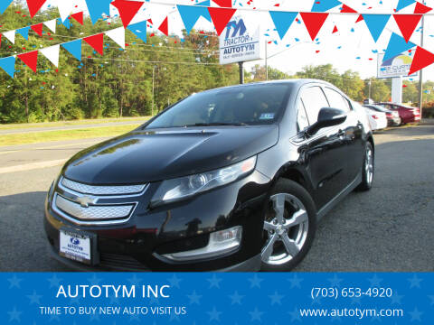 2012 Chevrolet Volt for sale at AUTOTYM INC in Fredericksburg VA
