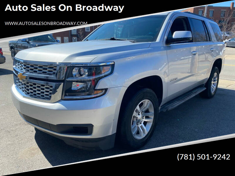 2015 Chevrolet Tahoe for sale at Auto Sales on Broadway in Norwood MA
